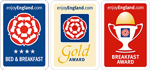 Gold Award & 4 star Silver Award by English Tourism